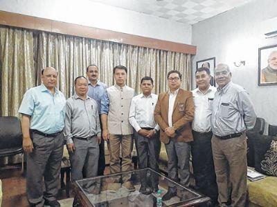 NEOA team submit memorandum to Union Sports Minister