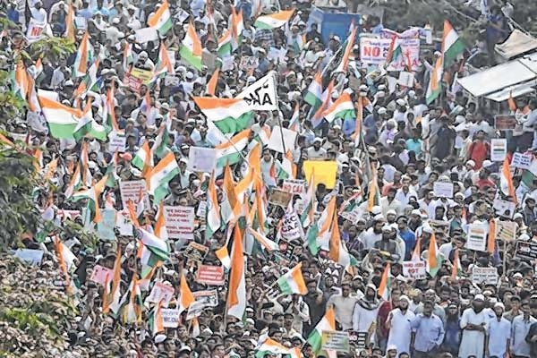 Thousands march to protes