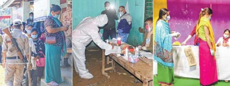 By-polls record 92.54 pc turnout, COVID-19 SOP virtually thrown to the wind Mid-way through 11th Manipur Legislative Assembly, four ACs vote for fresh MLAs