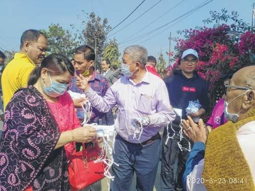 Kakching MLA distributes