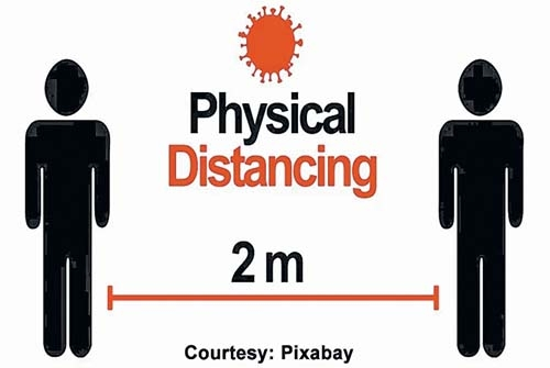 'Physical distancing' ins