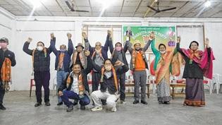 BJP leaders in Bishnupur