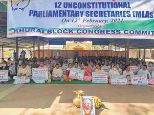 Congress continues protes