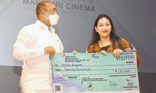 CM inaugurates Golden Jubilee celebration of Manipuri CinemaCMAT distributed to deserving artistes