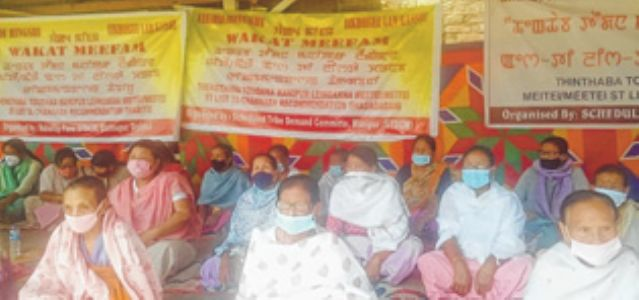 Sit-in-protest demands ST status