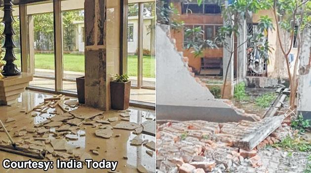 Aftershocks of Assam quak