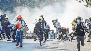 Myanmar crackdown death t