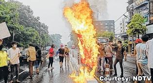 Myanmar protest  11 kille