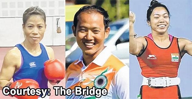Athletes from NE India wh