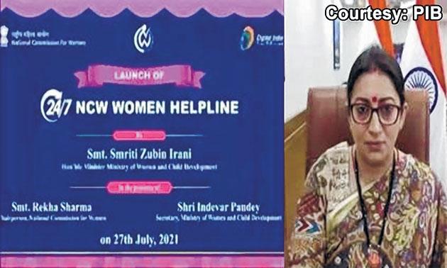 Smriti launches 24/7 help