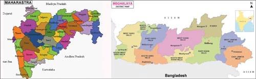 Maharastra and meghalaya_